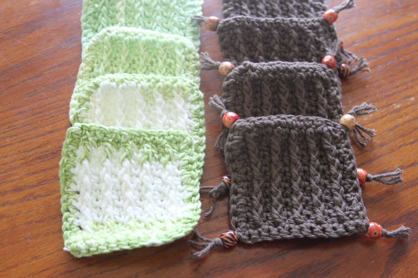 crochet textured coasters free pattern