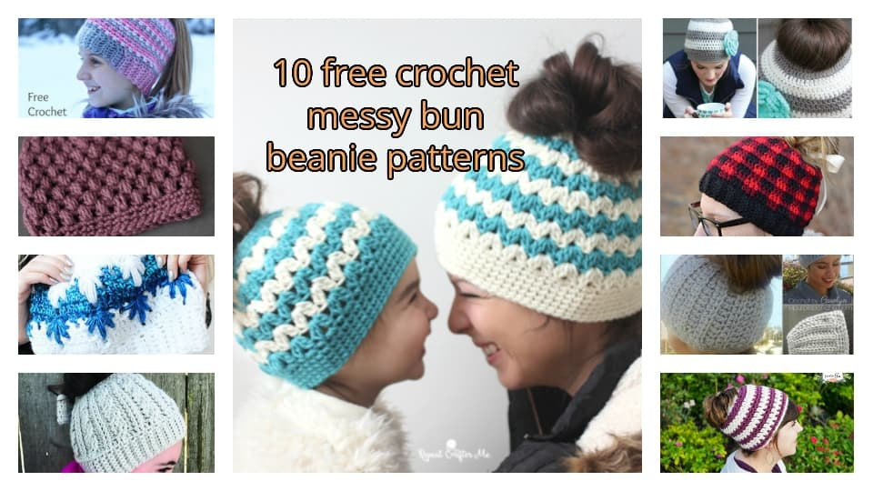 crochet messy bun free pattern