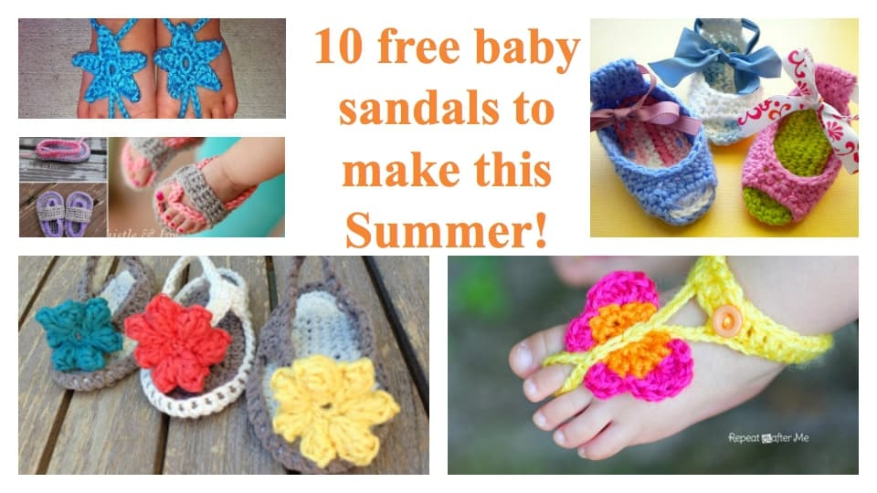 crochet baby sandals free pattern