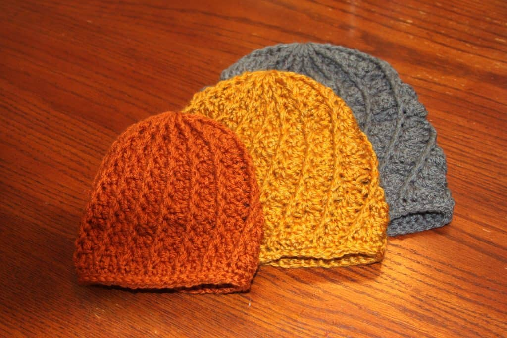 crochet spiral beanie free pattern