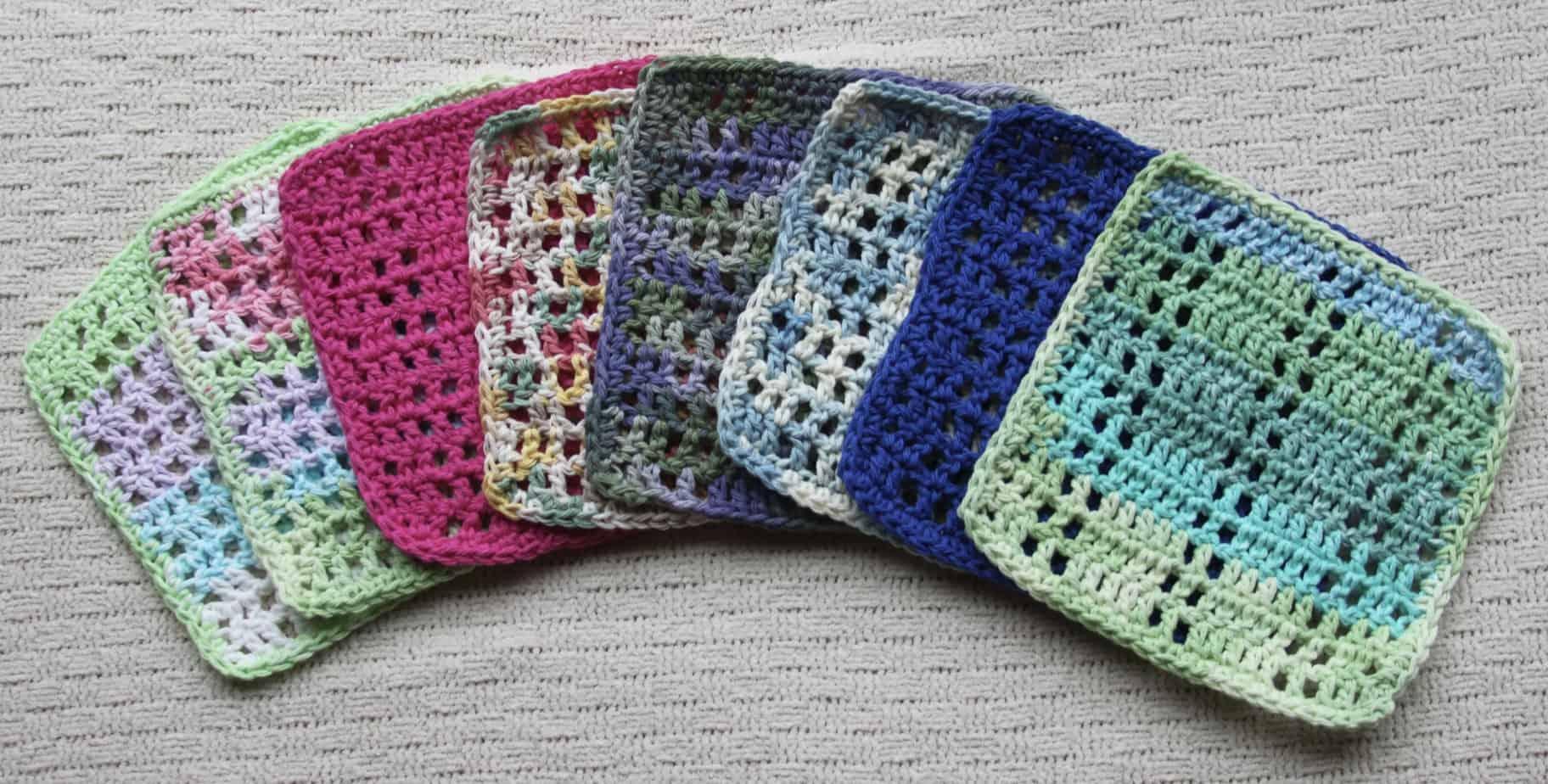 crochet dishcloth free pattern