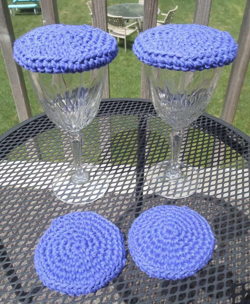 crochet wine lid free pattern