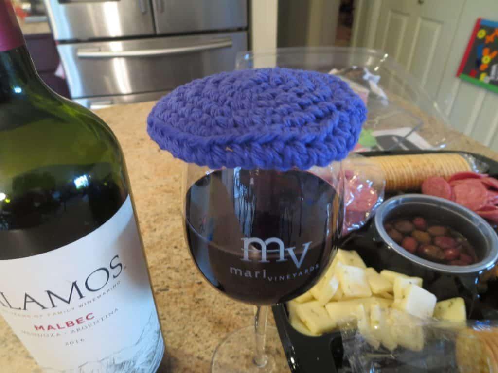 crochet wine lid cover free pattern