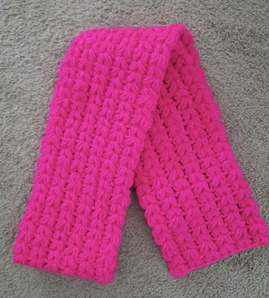 crochet puff scarf free pattern