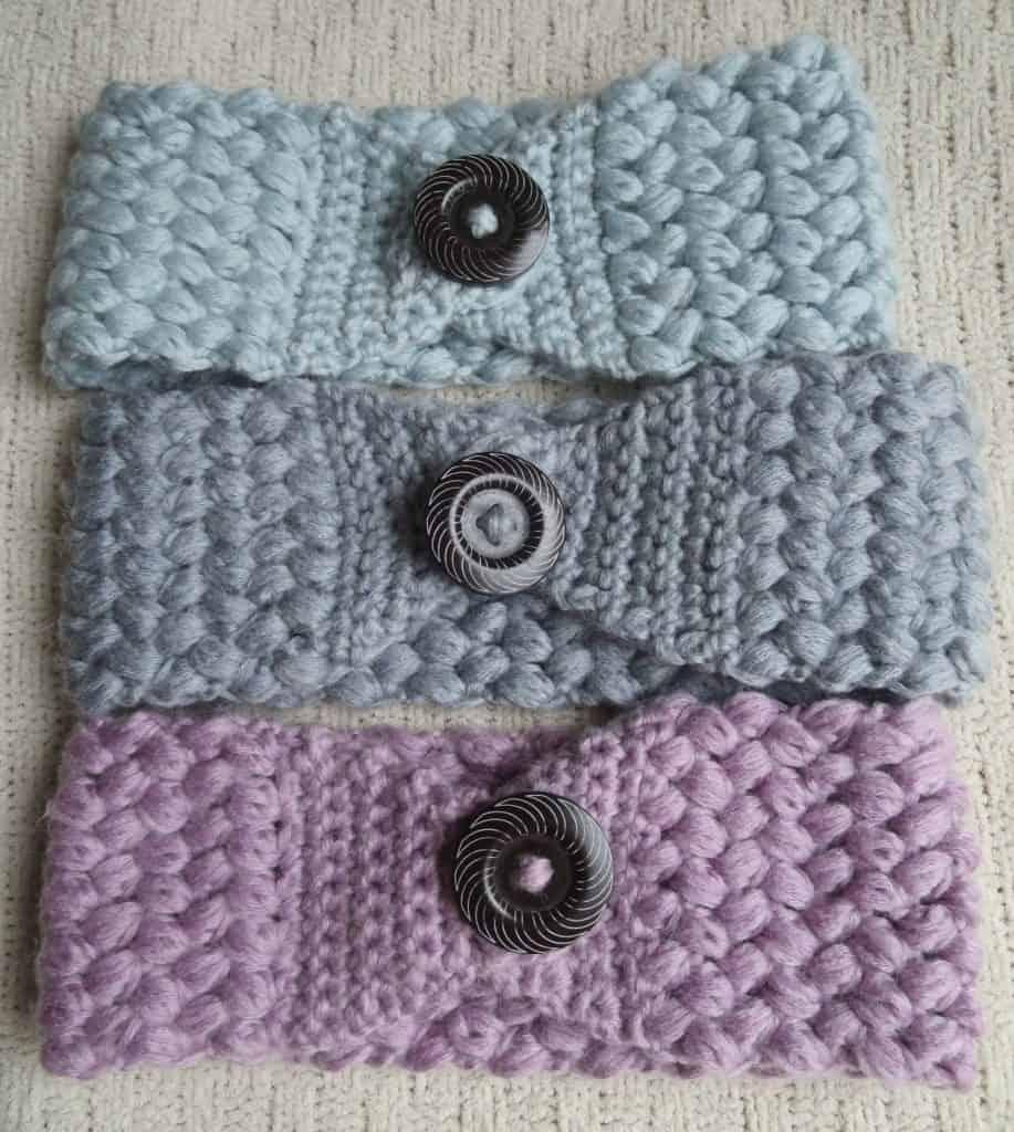 crochet puff headband free pattern