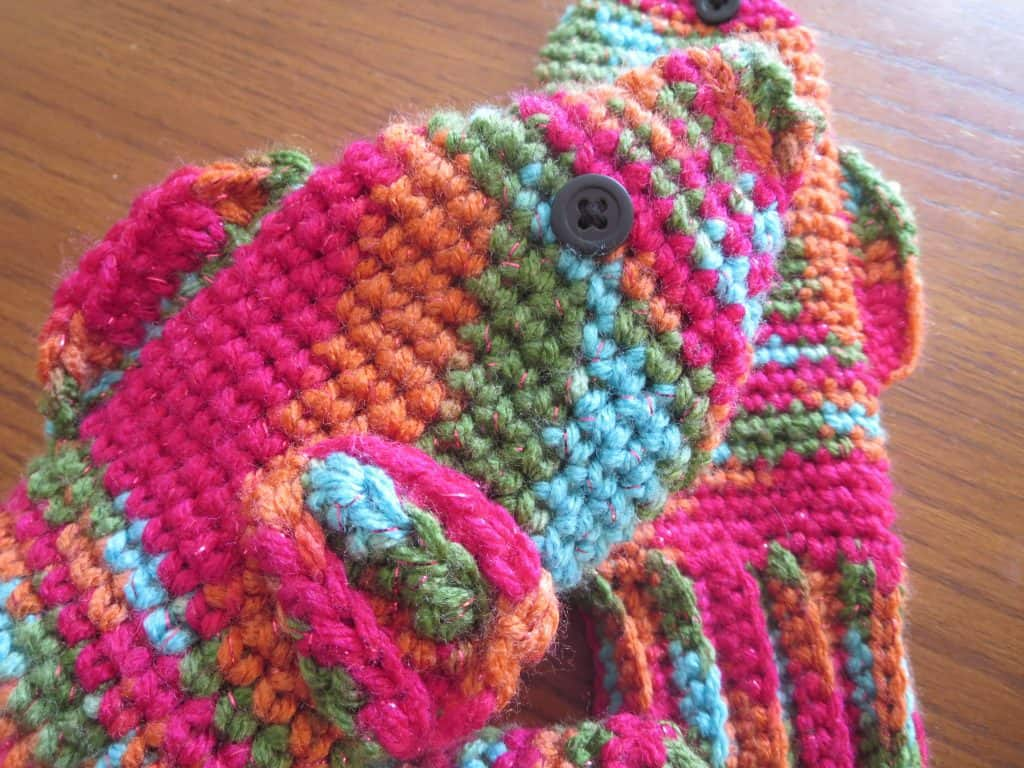 crochet fish mittens free pattern