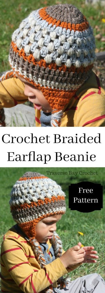 crochet braided earflap hat free pattern