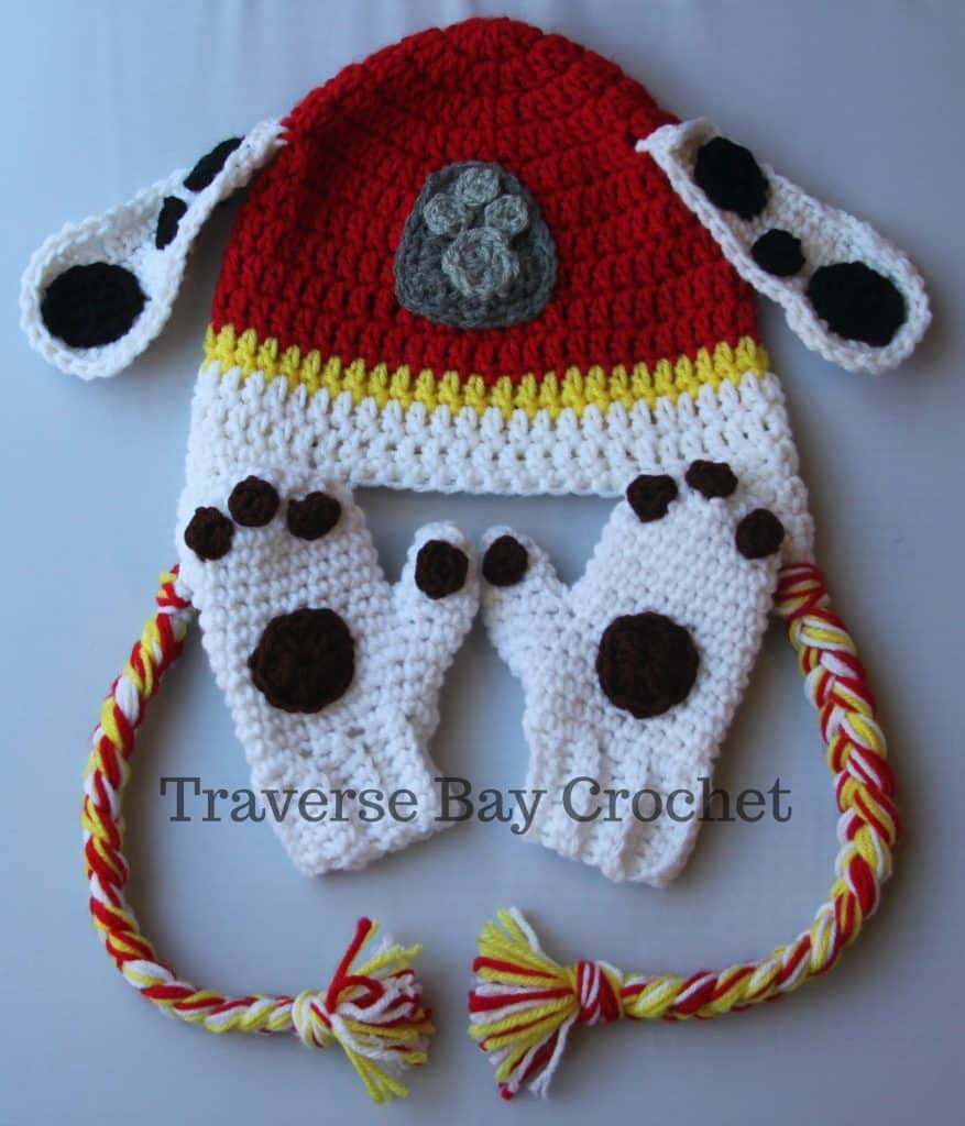 crochet marshall paw patrol hat free pattern