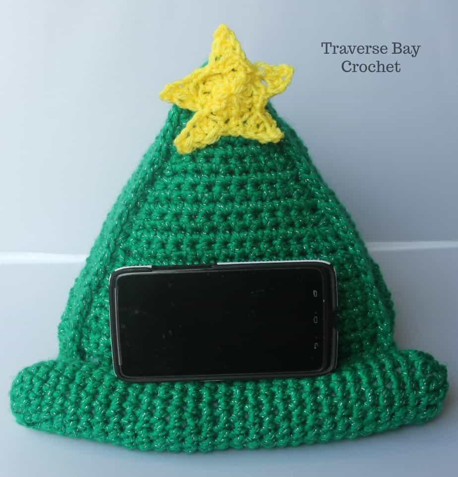 crochet phone stand free pattern