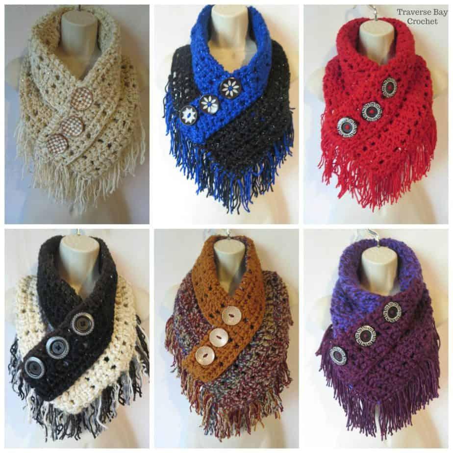 crochet fringe scarf free pattern