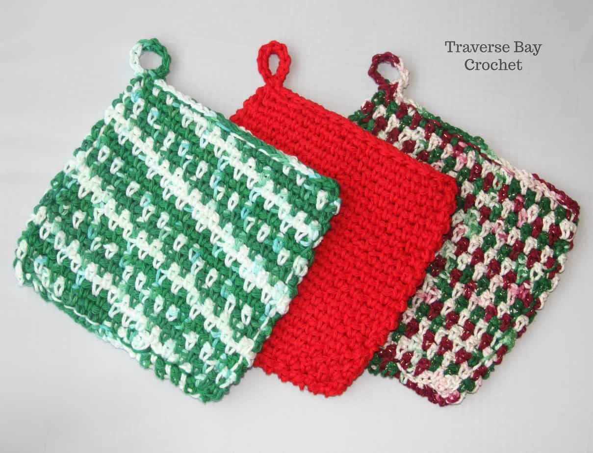 crochet potholder free pattern