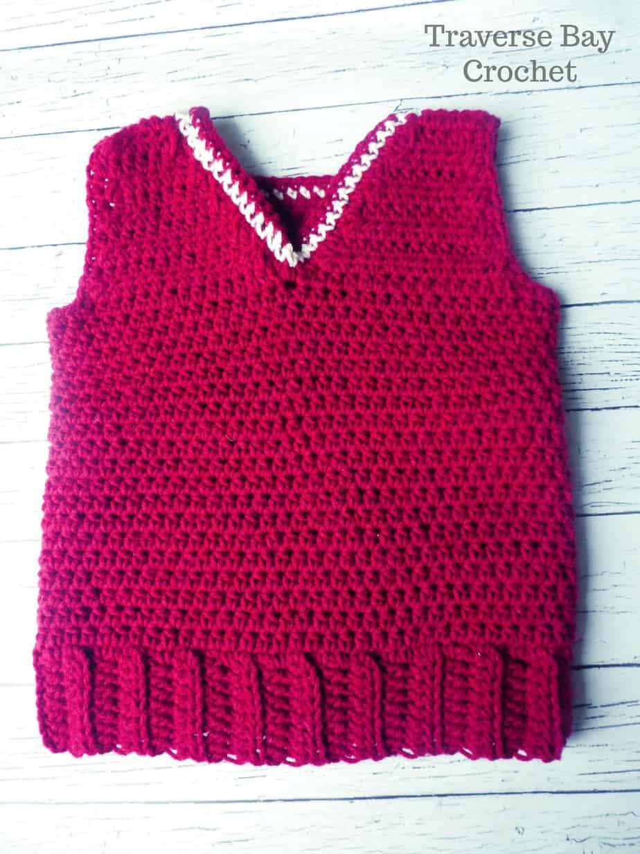 crochet toddler vest free pattern