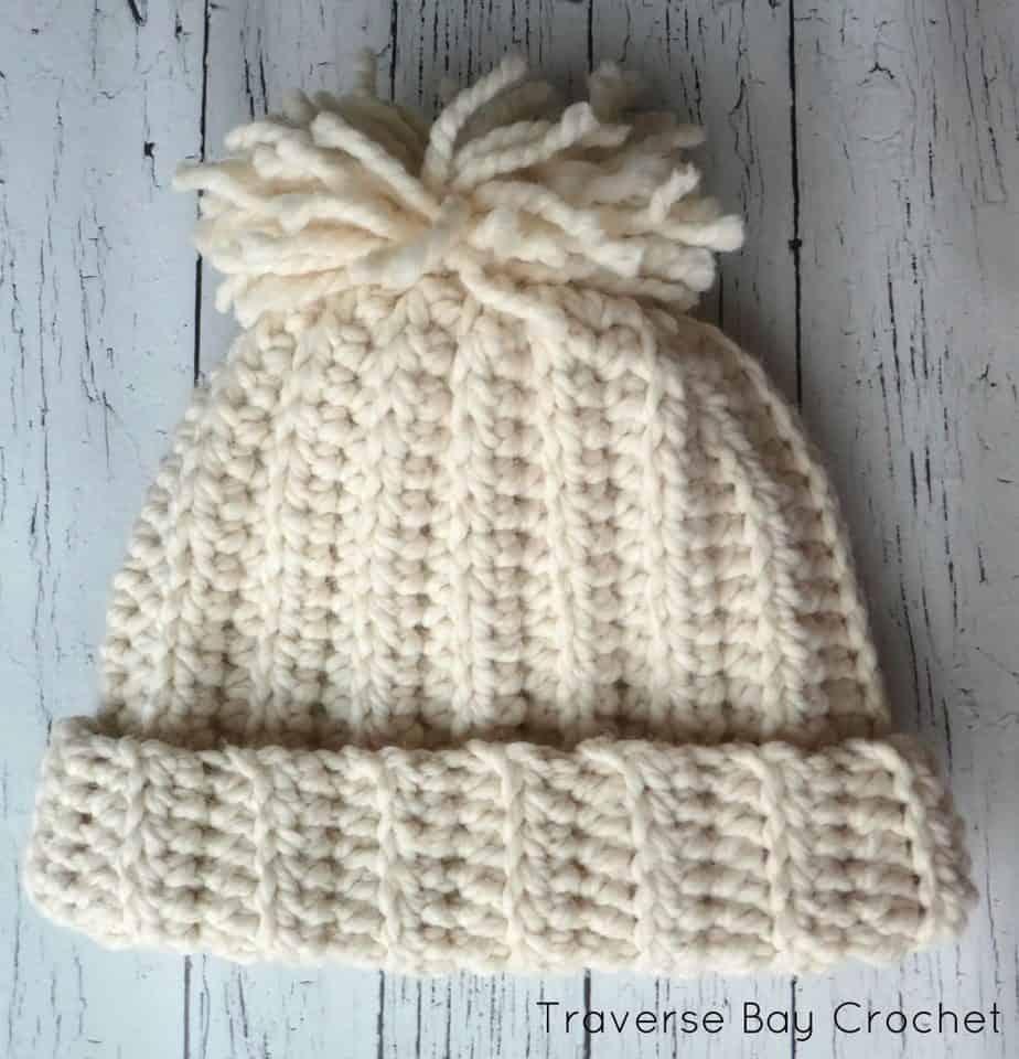 chunky crochet beanie free pattern