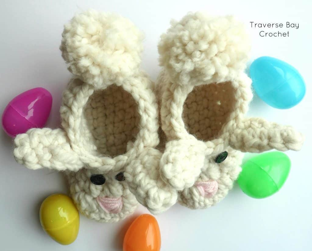 crochet bunny slippers free pattern