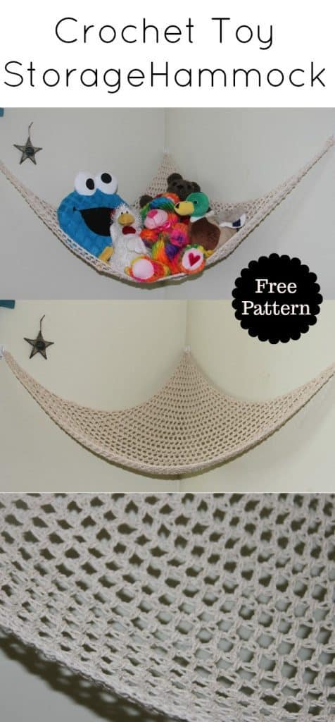 crochet toy storage hammock free pattern