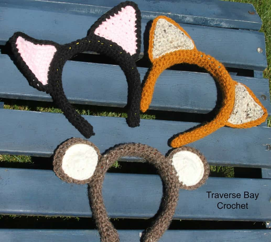 crochet animal headbands free pattern