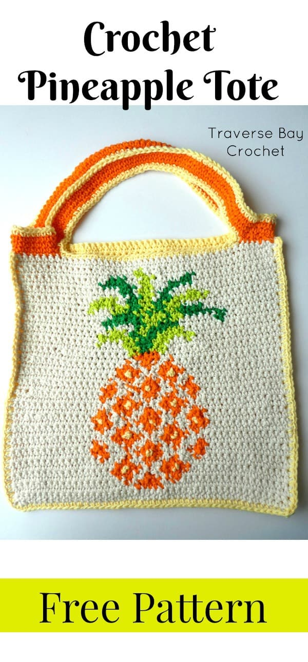 crochet pineapple bag free pattern