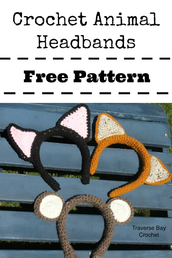 crochet cat headband free pattern