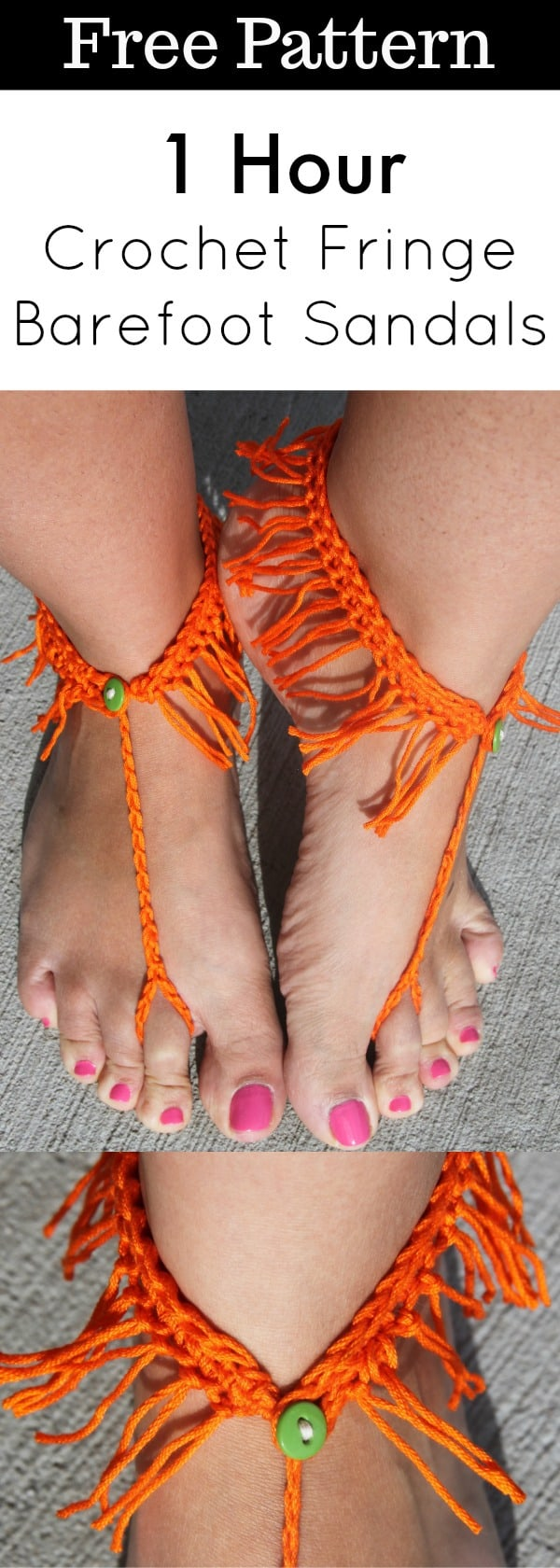 crochet fringe sandals free pattern