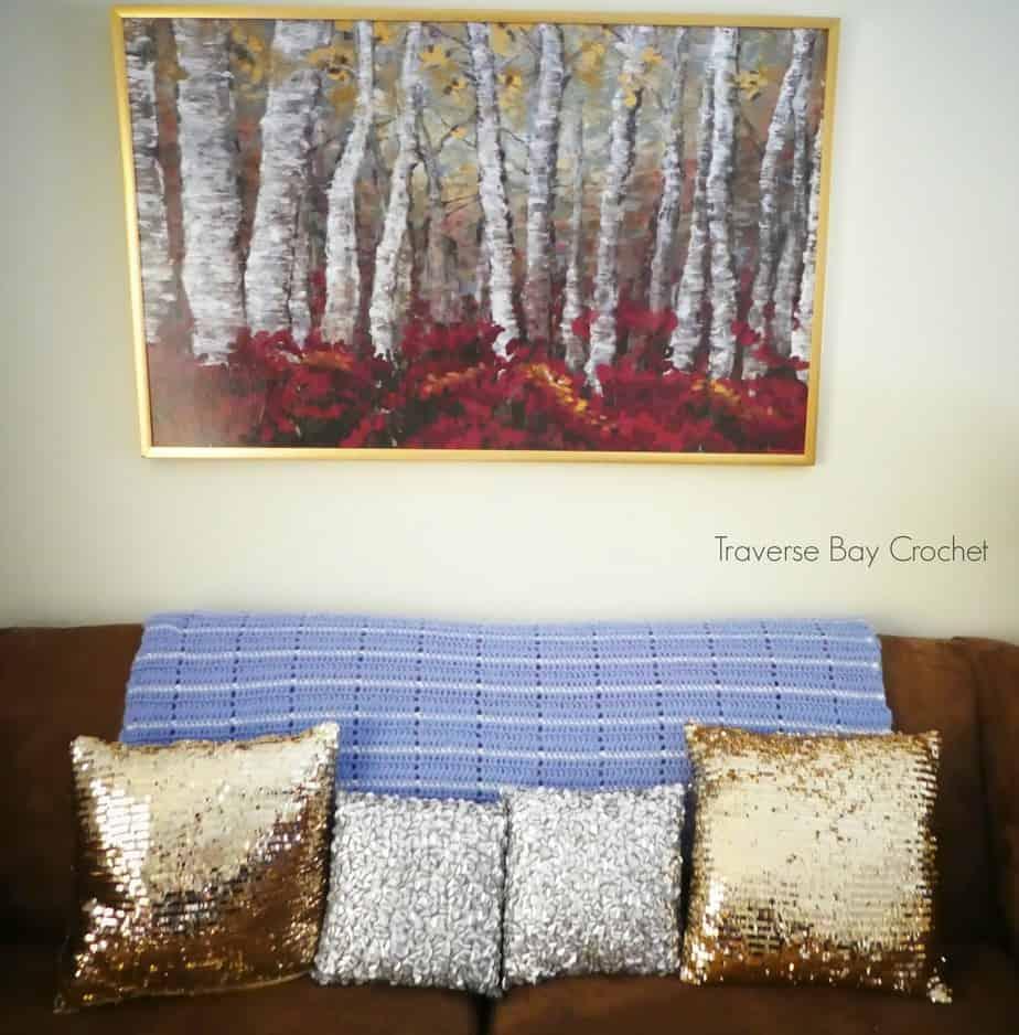 crochet stripe blanket free pattern