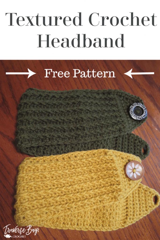 crochet textured headband free pattern