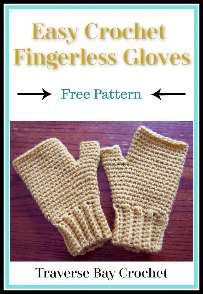 easy crochet fingerless gloves free pattern