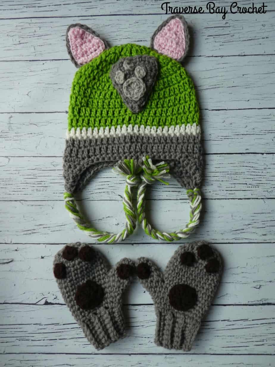crochet paw patrol rocky hat free pattern