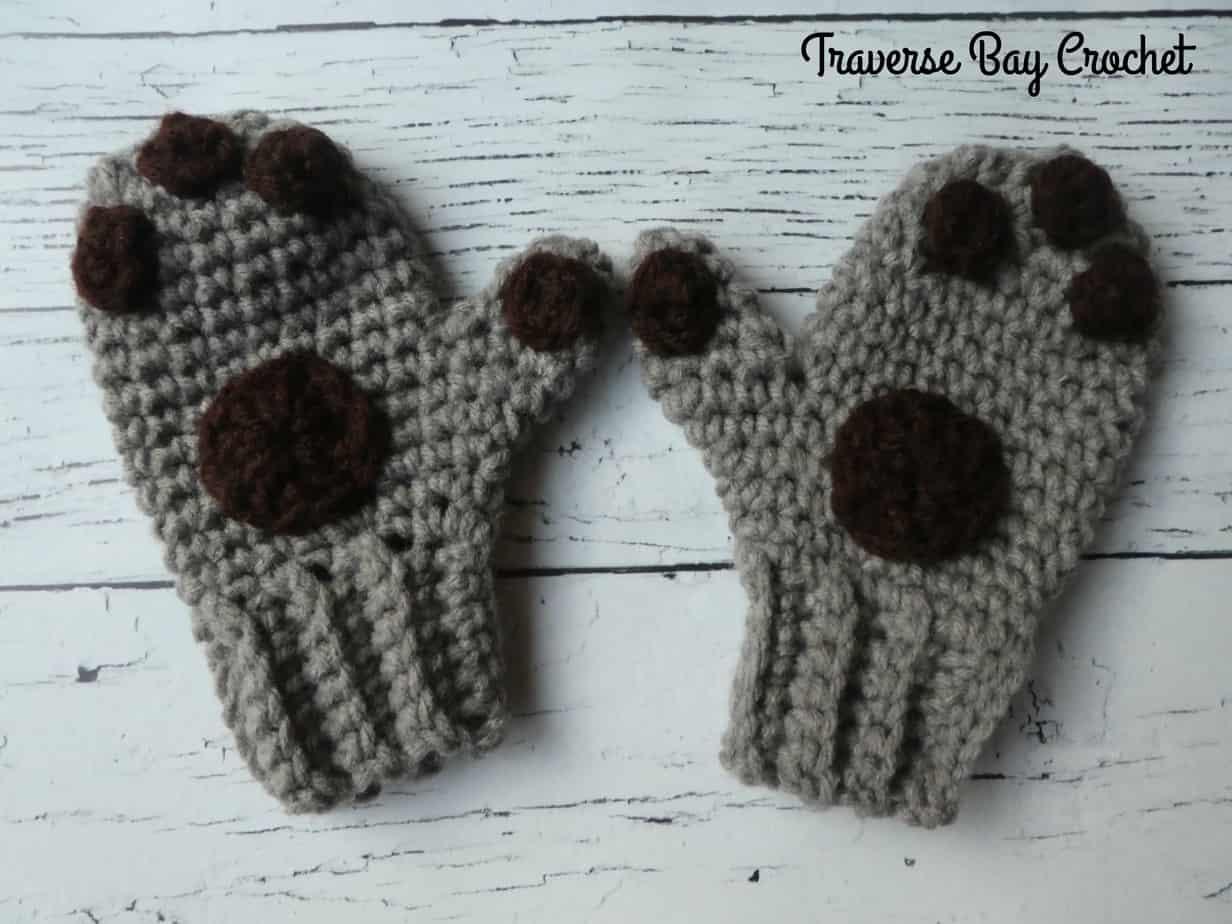 crochet paw patrol mittens free pattern