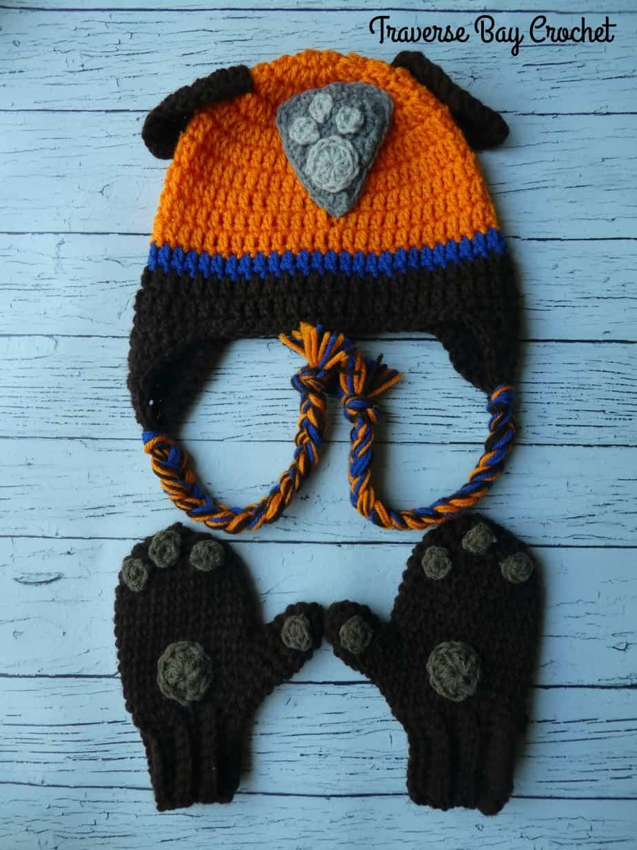 crochet Zuma paw patrol hat free pattern