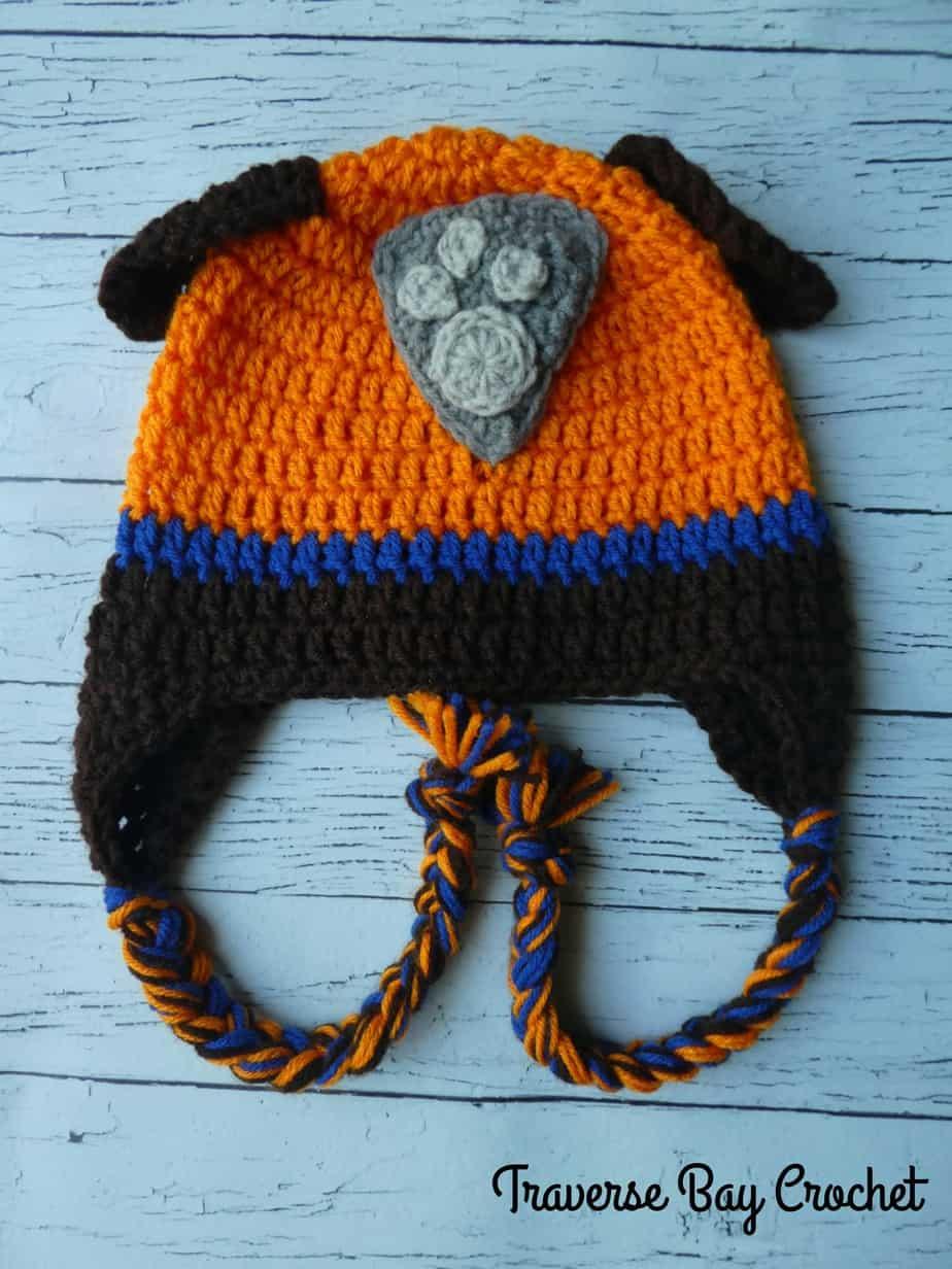 crochet paw patrol zuma hat free pattern