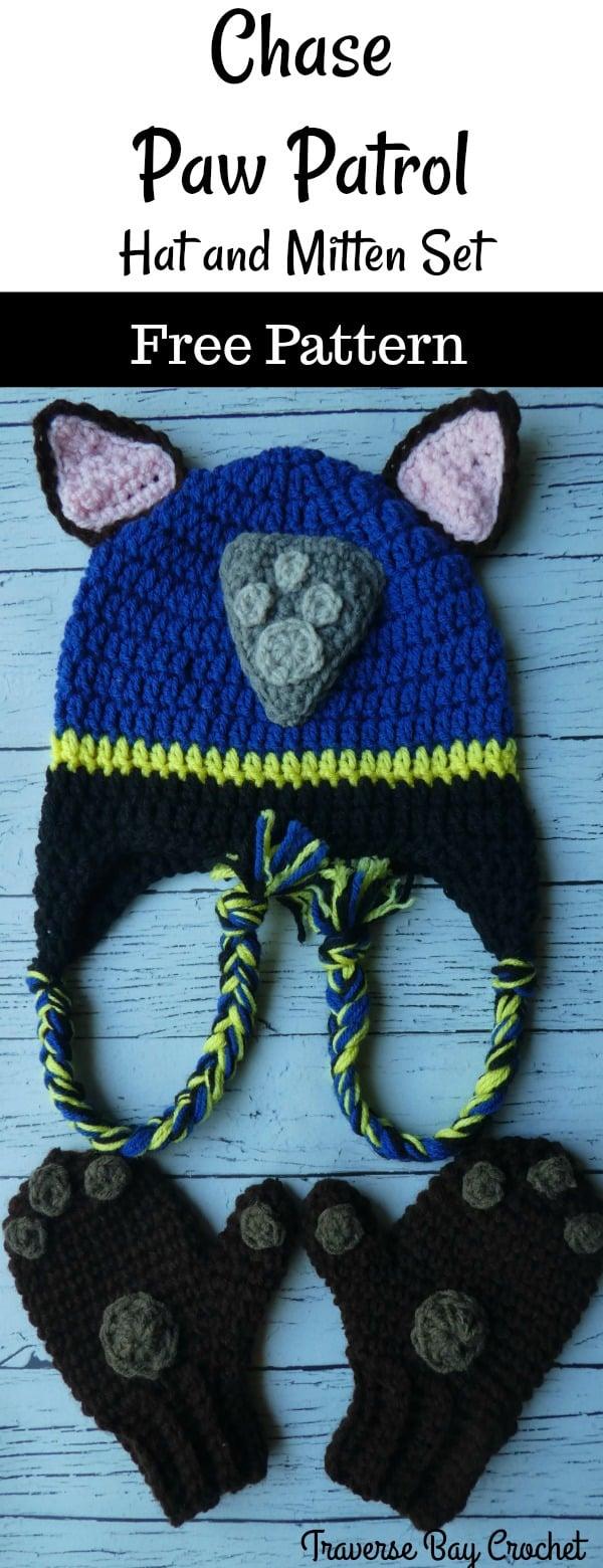 crochet chase paw patrol hat free pattern