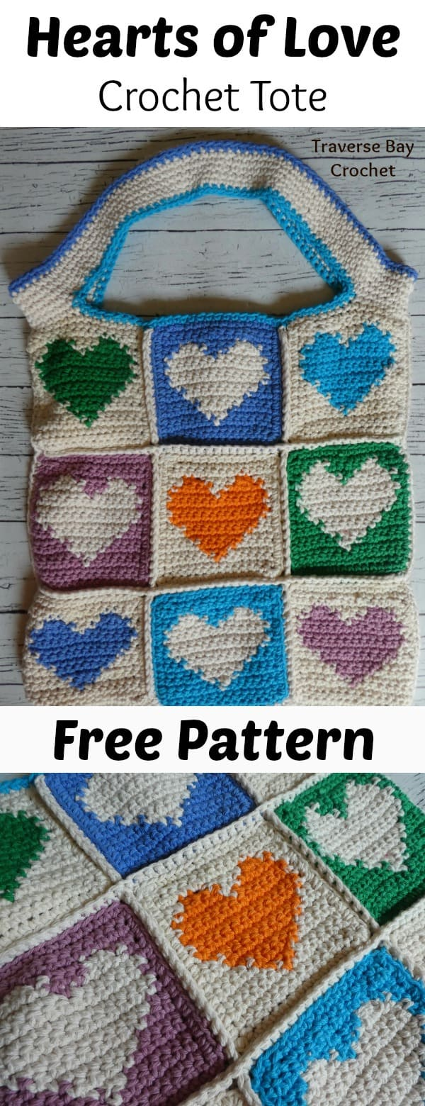 crochet tote bag free pattern