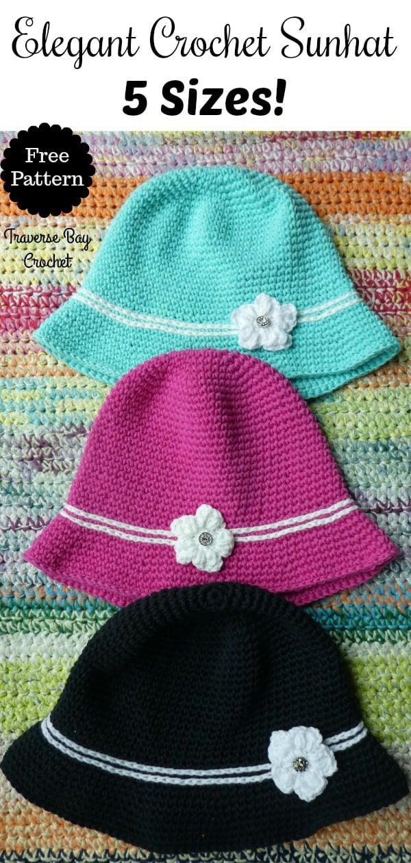 crochet sun hat free pattern