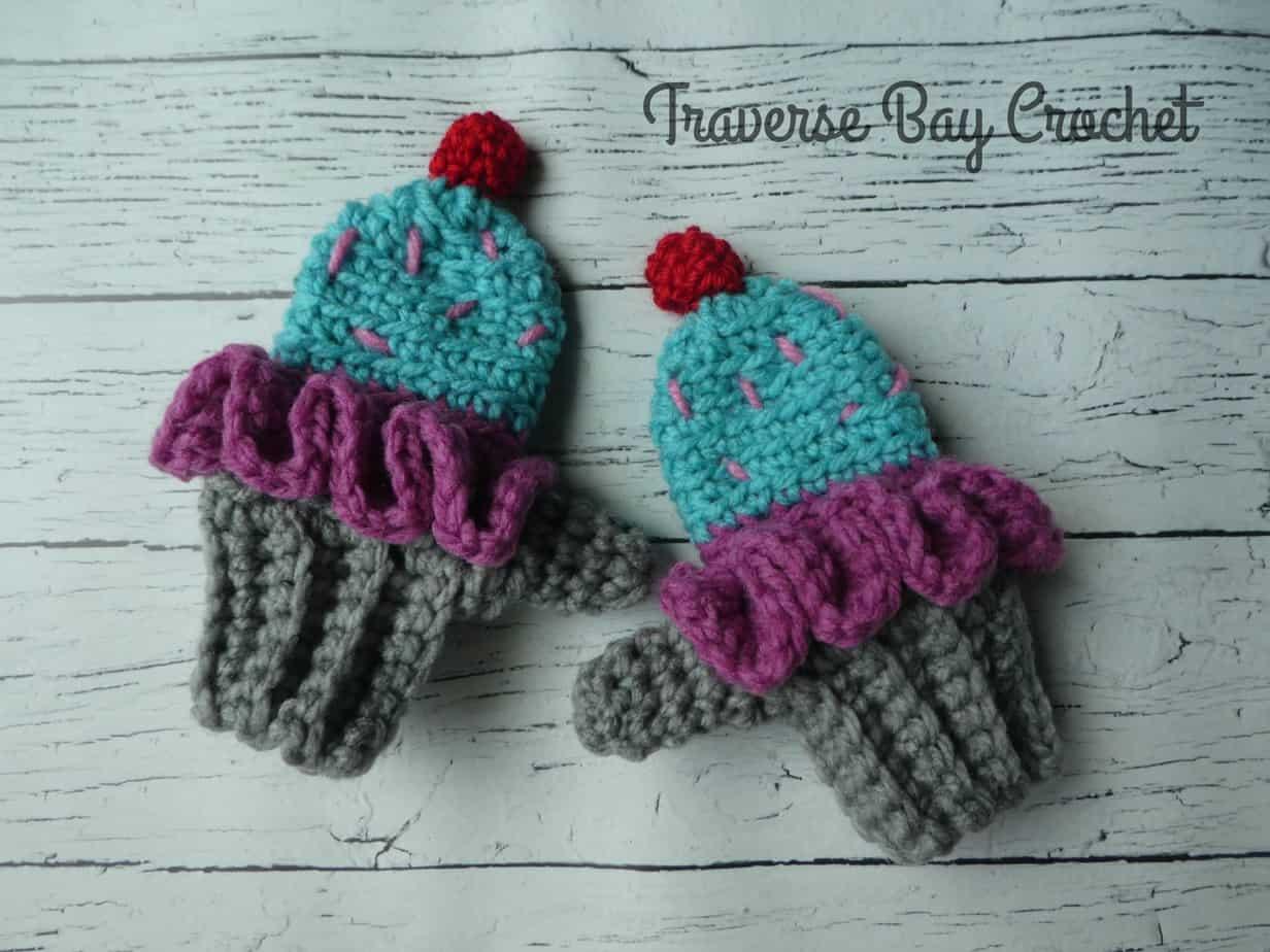 crochet cupcake mittens free pattern