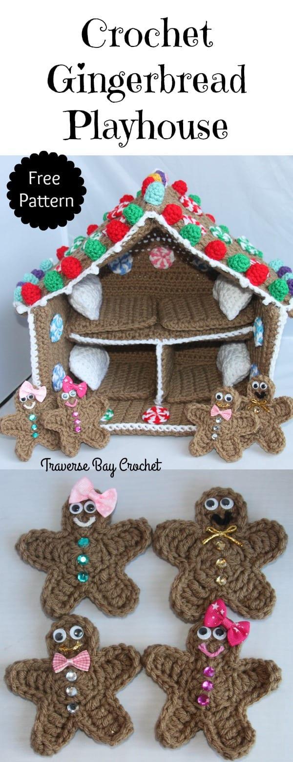 crochet gingerbread house free pattern