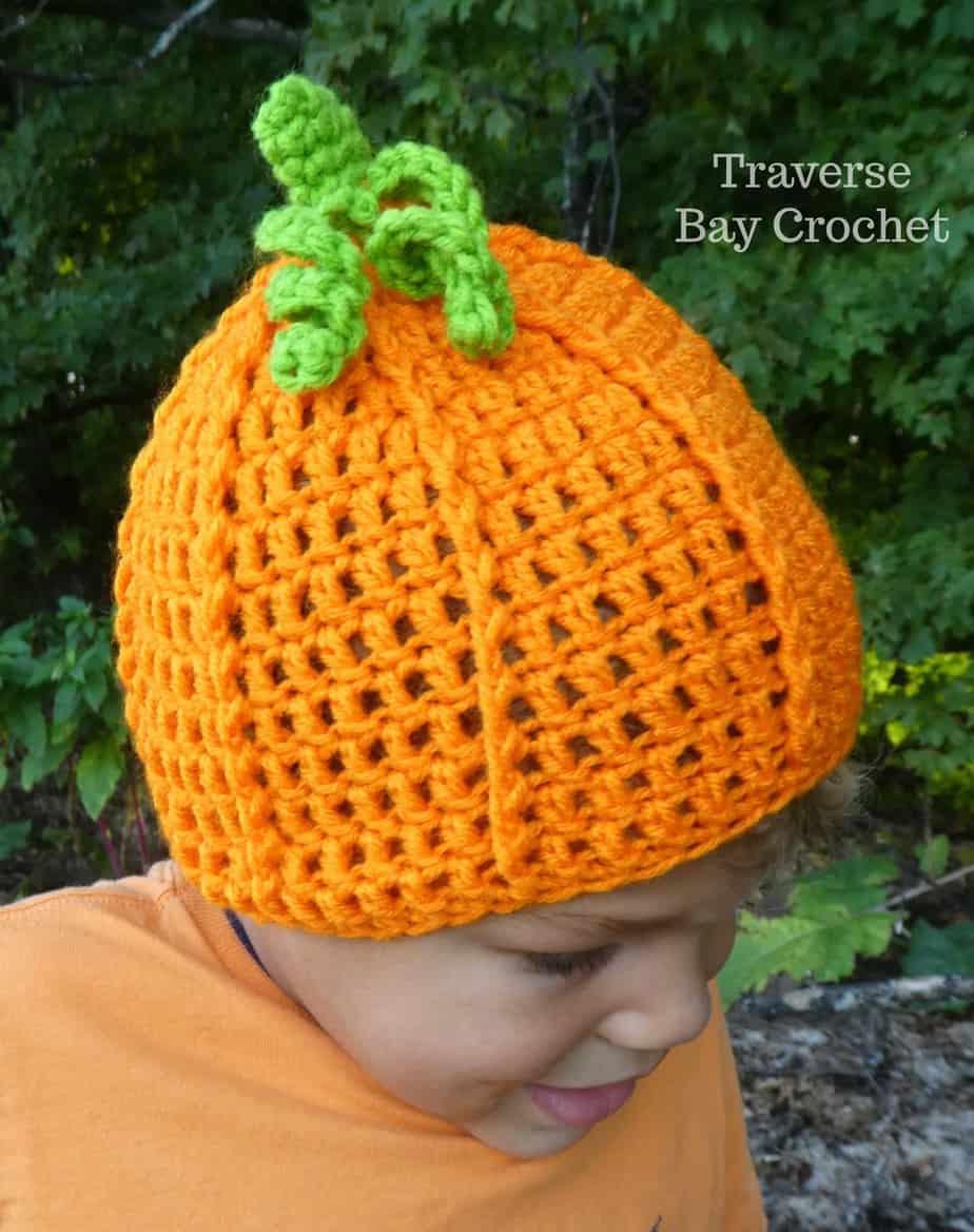 crochet pumpkin hat free pattern