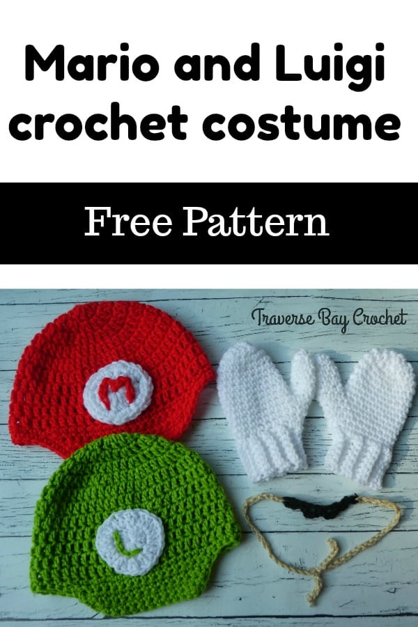 crochet mario and luigi costume free pattern