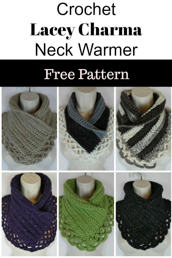 crochet lace cowl free pattern
