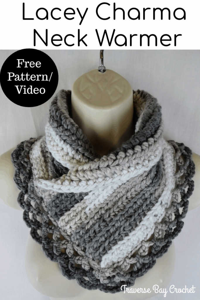 crochet lace neck warmer