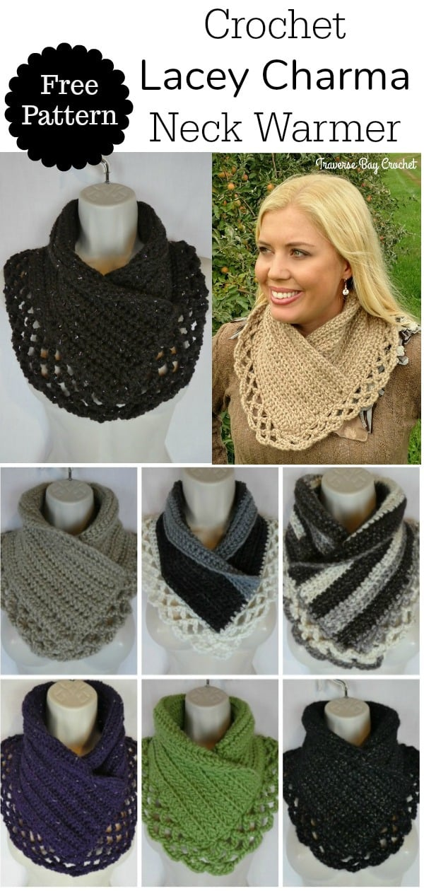crochet charma neck warmer