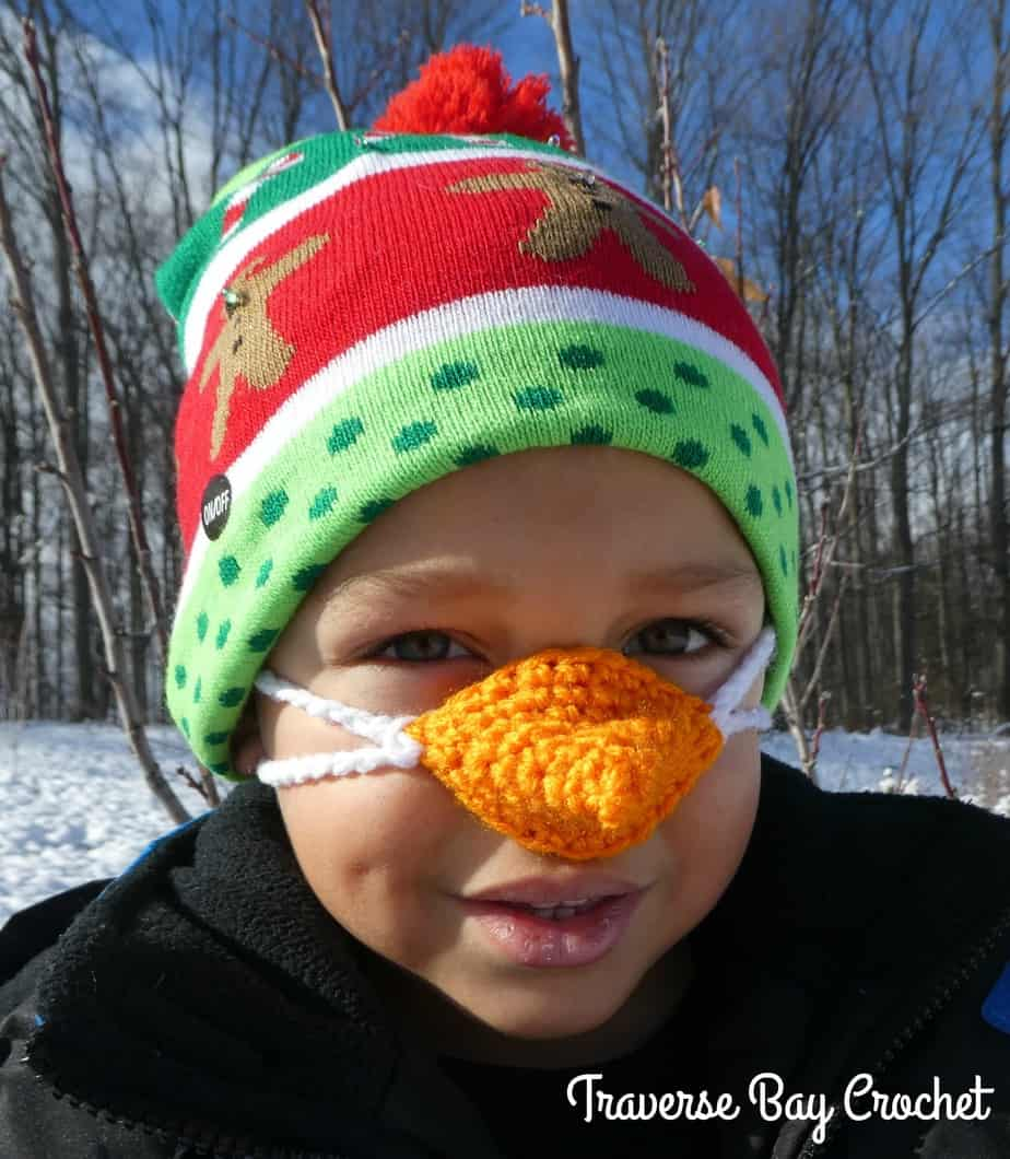 crochet nose warmer free pattern