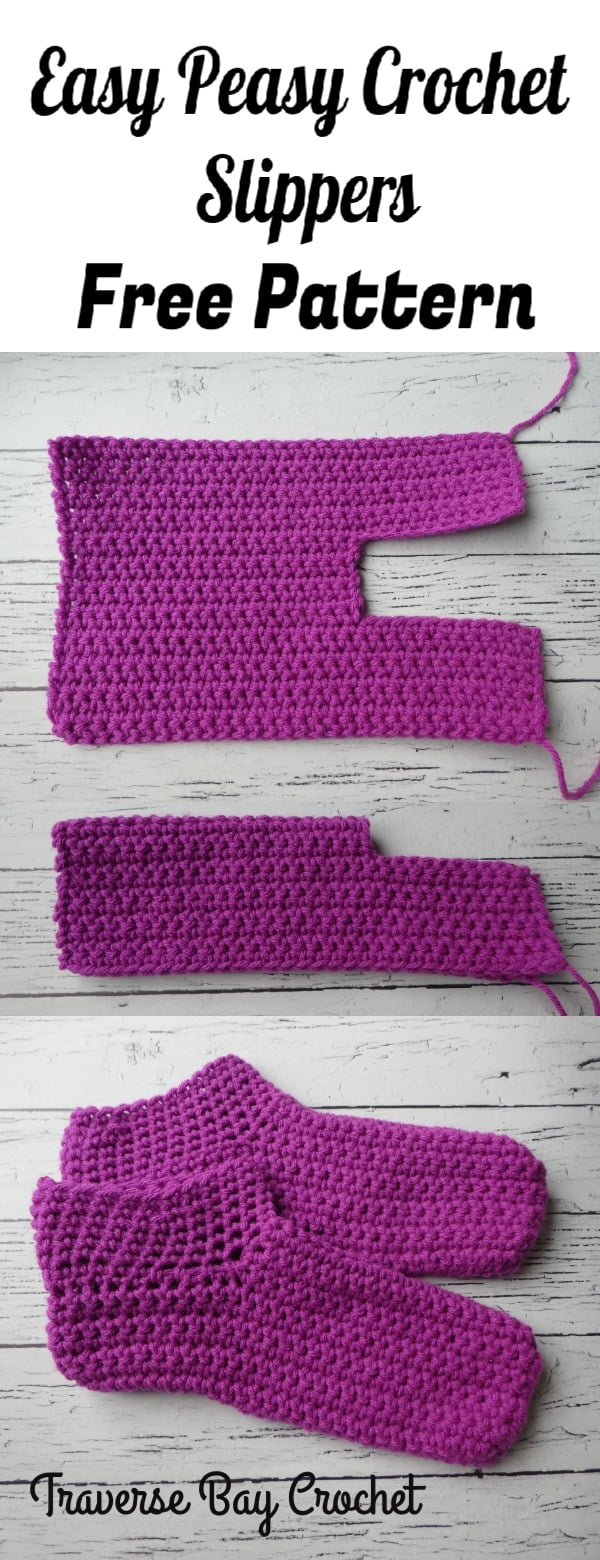 easy adult crochet slippers free pattern