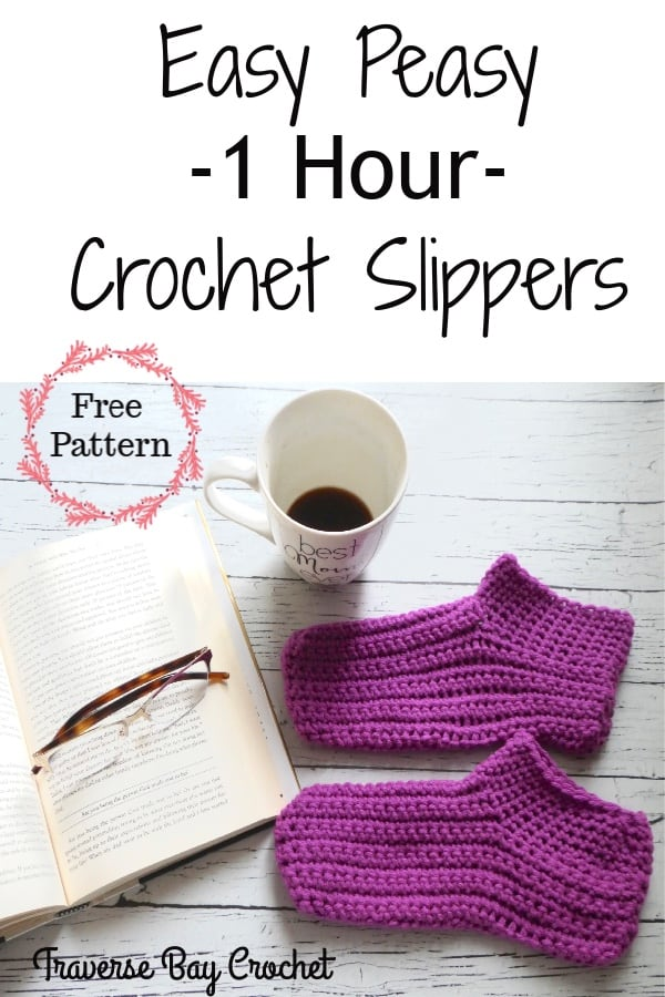 easy crochet slippers free pattern