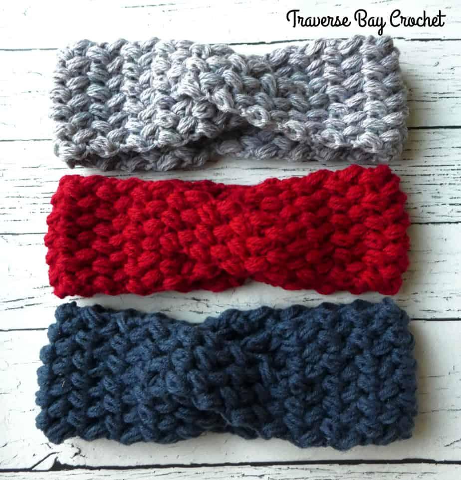 crochet twist headband free pattern