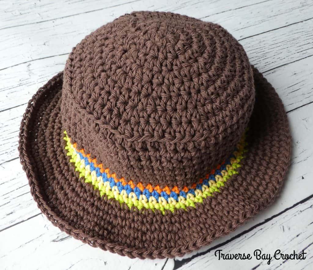 Little Man Crochet Sun Hat   Traversebaycrochet.com
