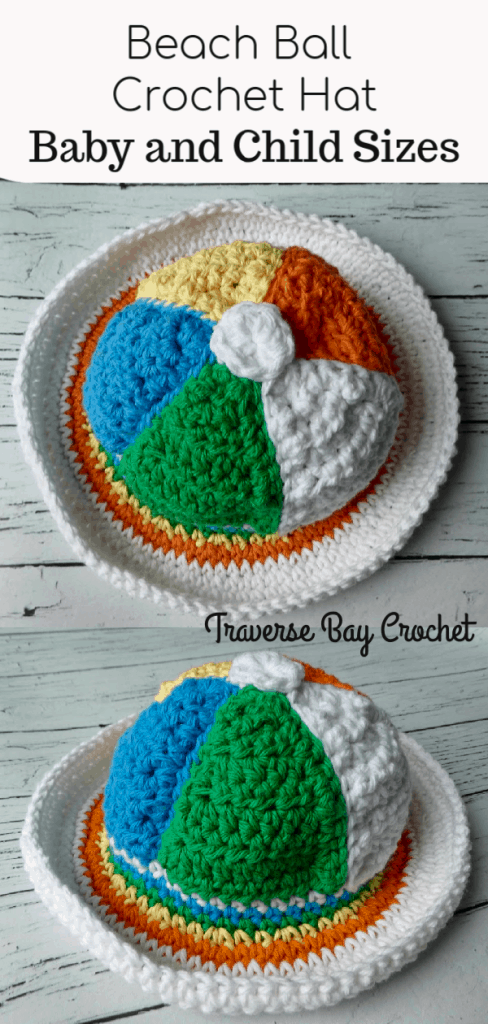 crochet beach ball sun hat free pattern