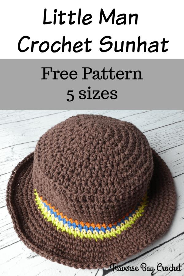 boys crochet sun hat free pattern