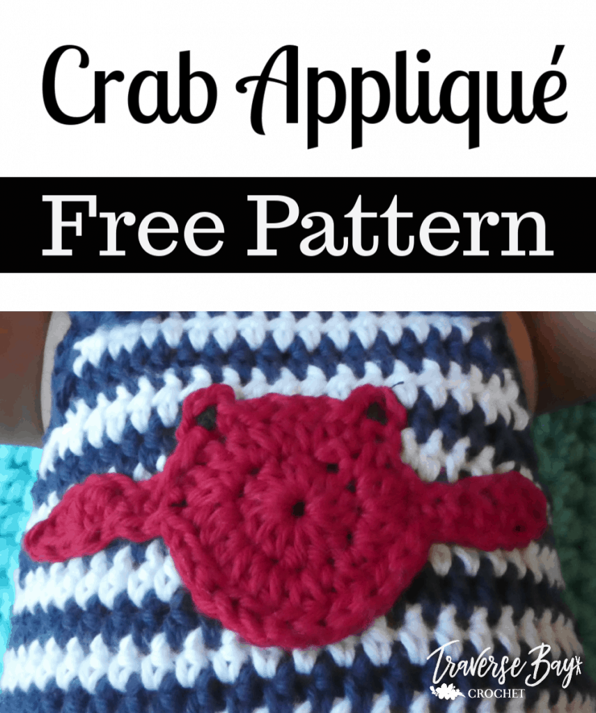 crochet crab applique free pattern