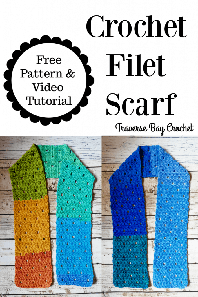 crochet filet scarf free pattern