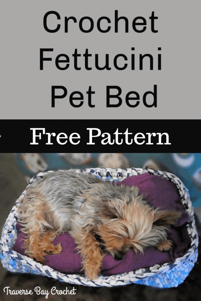 crochet pet bed free pattern
